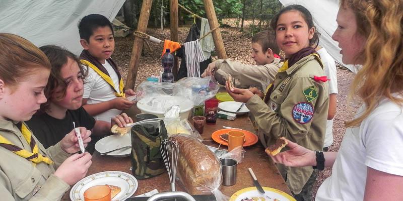 Scouting André de Thaye: Scouts op kamp